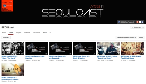 SEOULcast on YouTube 1j