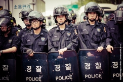 Photo Taken: Saturday May 02nd, 2015 (Insadong, Seoul) Unrest continues. The families of the Sewol Ferry victims and their supporters continue to rally in demonstrations in #Seoul this weekend.